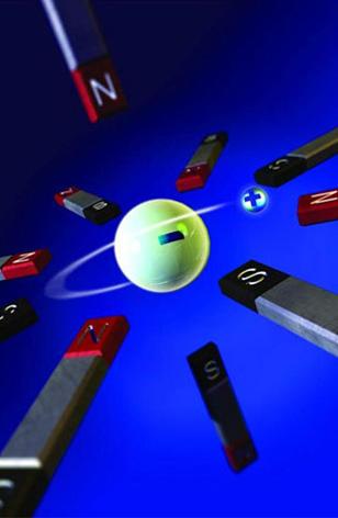 原子的结构是复杂的,充满了很多奇异粒子,具有自旋等性质.